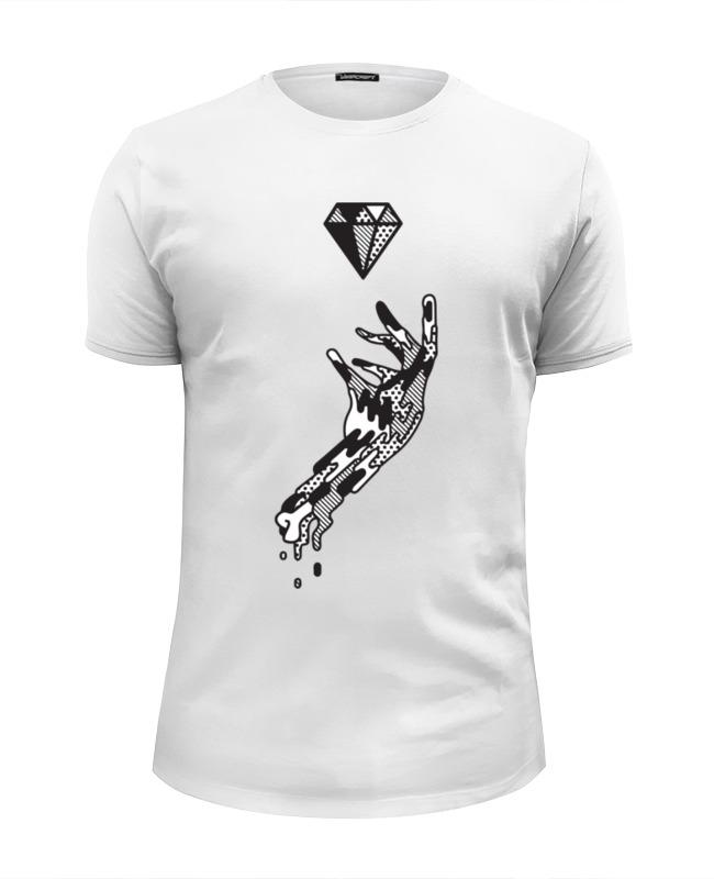 Футболка Wearcraft Premium Slim Fit Printio Алмаз и рука футболка wearcraft premium slim fit printio рука пистолет bang