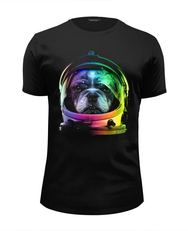 Футболка Wearcraft Premium Slim Fit Printio Собака космонавт футболка wearcraft premium slim fit printio русский космонавт
