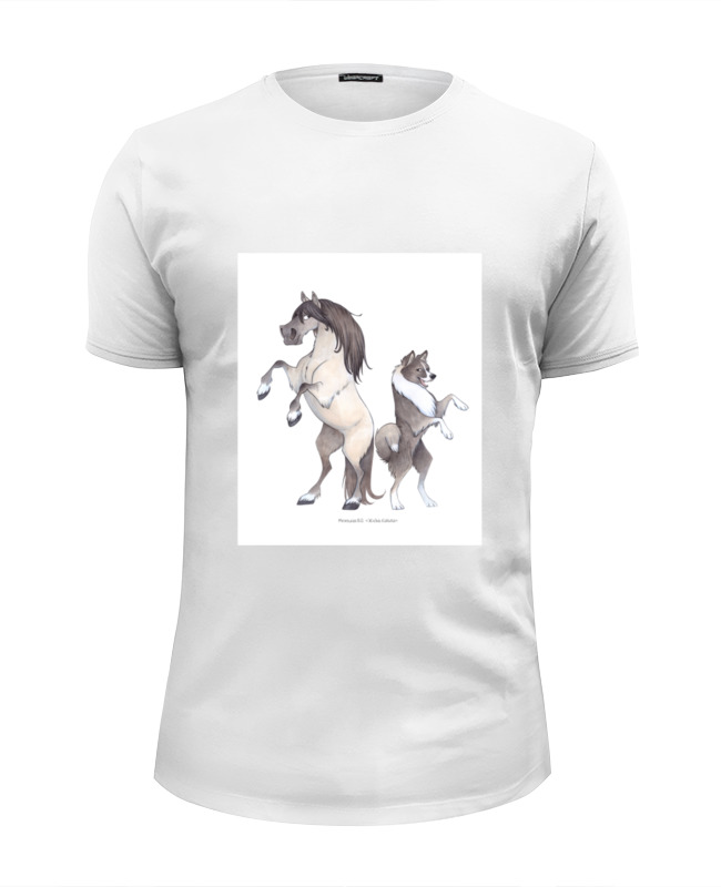 Футболка Wearcraft Premium Slim Fit Printio Якутская лошадь/якутская лайка футболка wearcraft premium slim fit printio лайка