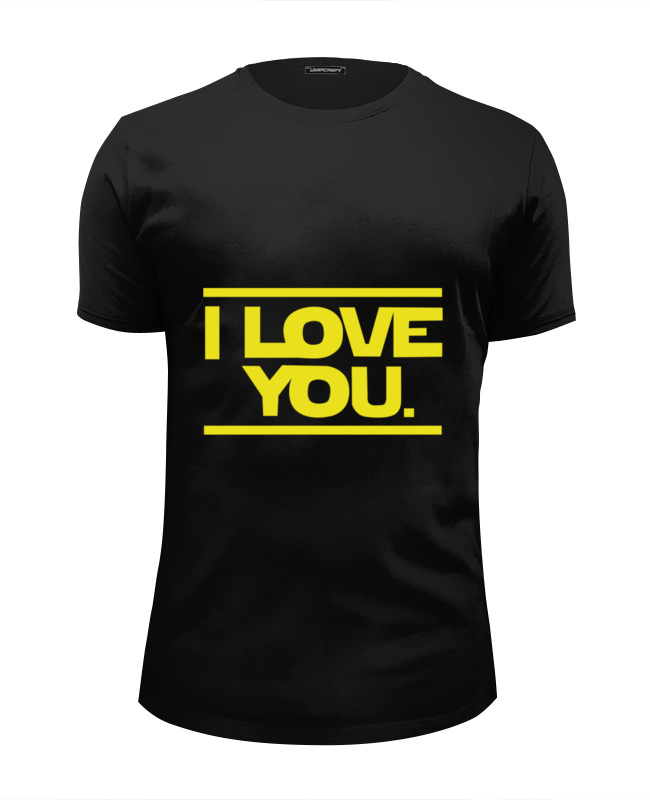 Футболка Wearcraft Premium Slim Fit Printio I love you star wars футболка wearcraft premium printio i love you star wars
