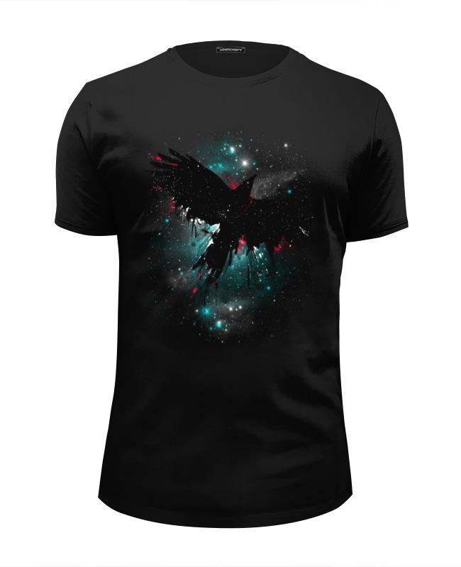 Футболка Wearcraft Premium Slim Fit Printio Космическая птица футболка wearcraft premium printio птица счастья