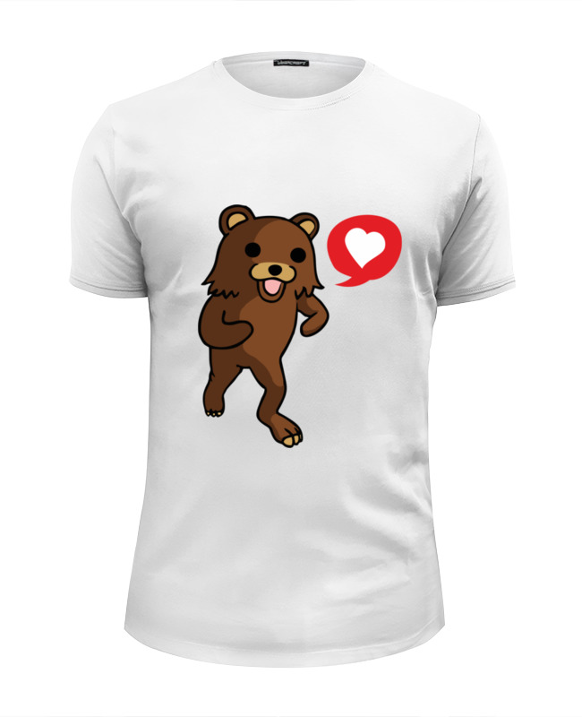 Футболка Wearcraft Premium Slim Fit Printio Pedobear loves you this book loves you