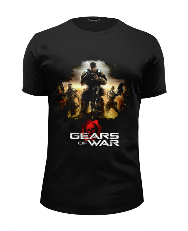 все цены на Футболка Wearcraft Premium Slim Fit Printio Gears of war 2