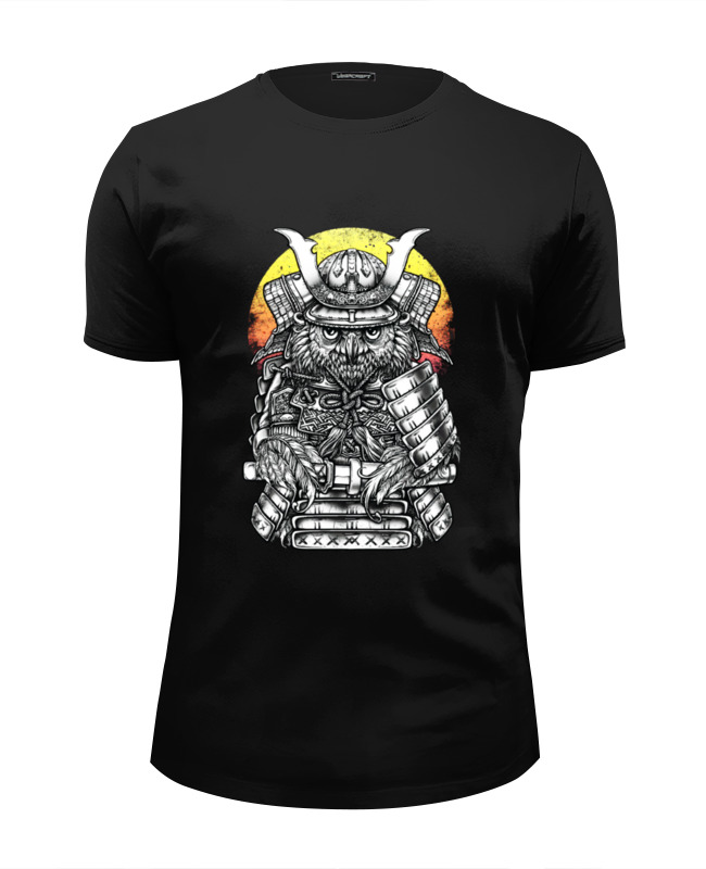Футболка Wearcraft Premium Slim Fit Printio Owl samurai / сова самурай