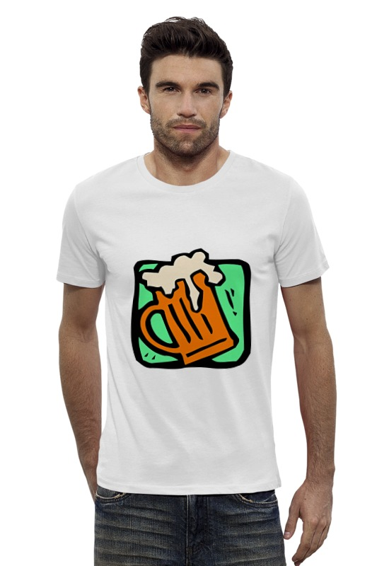 Футболка Wearcraft Premium Slim Fit Printio Алкоголь где ночью алкоголь дешево