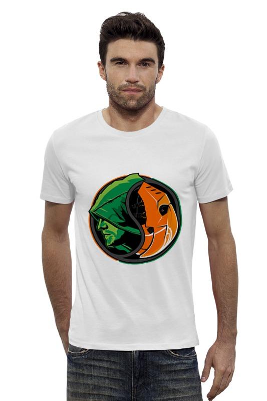 Футболка Wearcraft Premium Slim Fit Printio Дефстроук (зеленая стрела) зеленая футболка