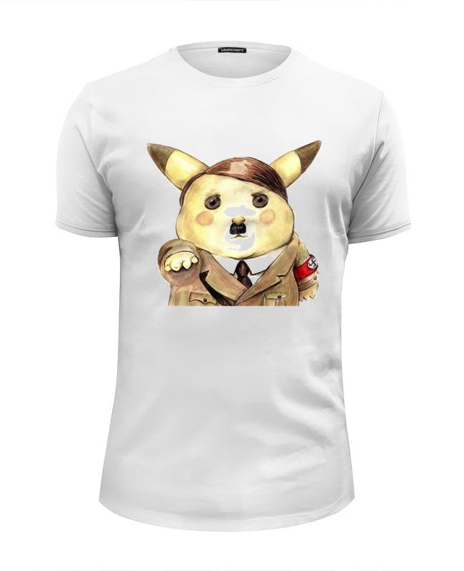 Футболка Wearcraft Premium Slim Fit Printio Hitler picachu футболка wearcraft premium slim fit printio hitler picachu
