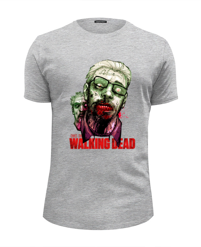 Футболка Wearcraft Premium Slim Fit Printio Walking dead футболка up dead up shark серый меланж m