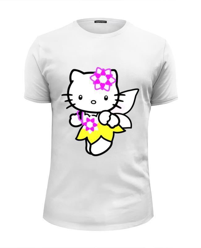 Футболка Wearcraft Premium Slim Fit Printio Кот кошка. hello kitty.любимый герой мульт. цены онлайн