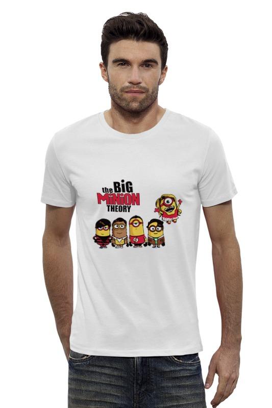 Футболка Wearcraft Premium Slim Fit Printio Теория большого миньона серая футболка для мальчика миньона 38