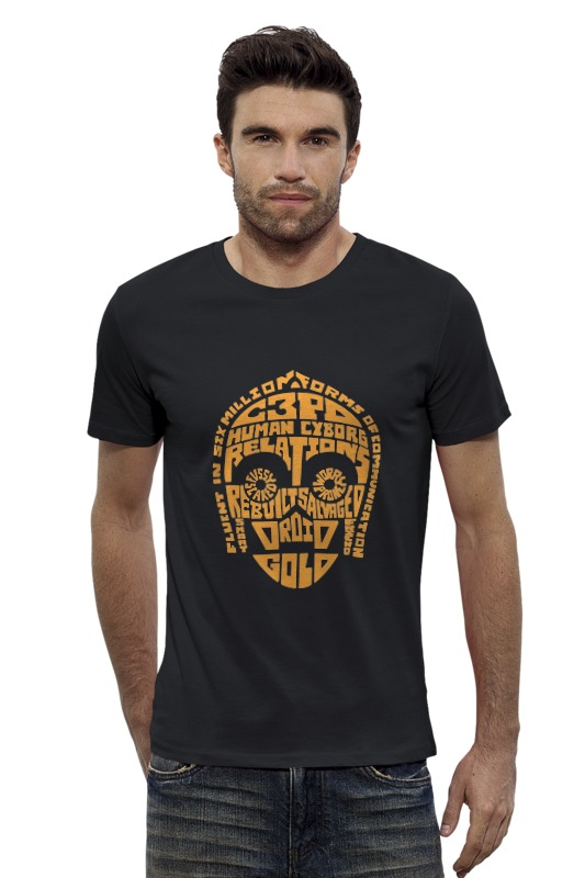 Футболка Wearcraft Premium Slim Fit Printio Дроид c-3po футболка wearcraft premium slim fit printio hodor x c 3po