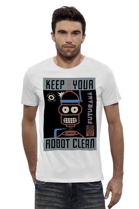 Футболка Wearcraft Premium Slim Fit Printio Keep your robot clean футболка wearcraft premium printio keep calm