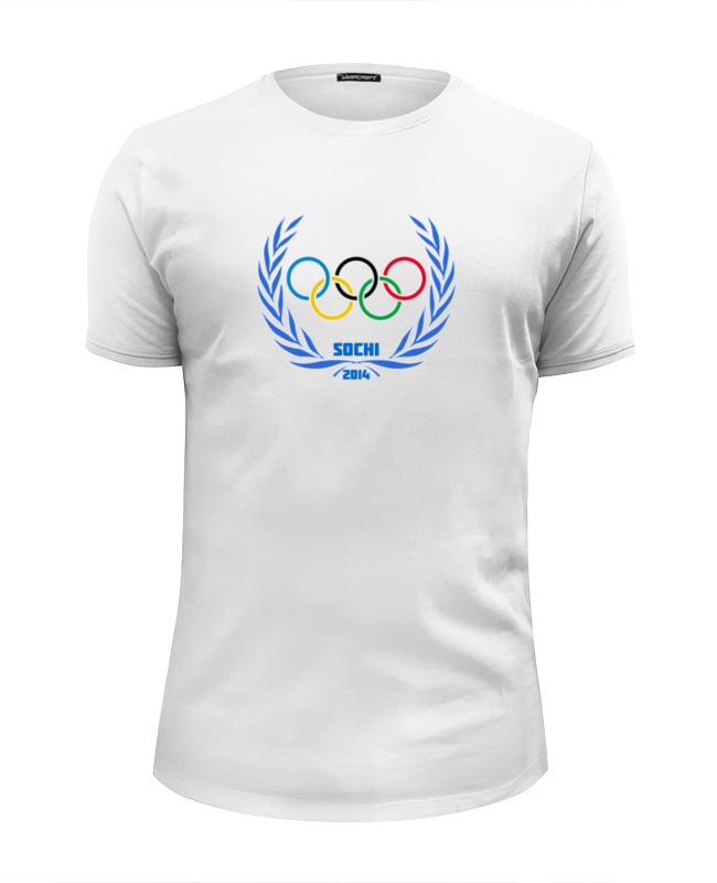 Футболка Wearcraft Premium Slim Fit Printio Sochi 2014 сумка printio sochi 2014