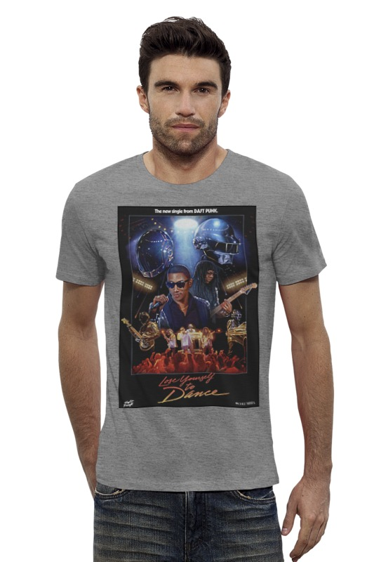 Футболка Wearcraft Premium Slim Fit Printio Daft punk - lose youself to dance футболка wearcraft premium printio punk rock