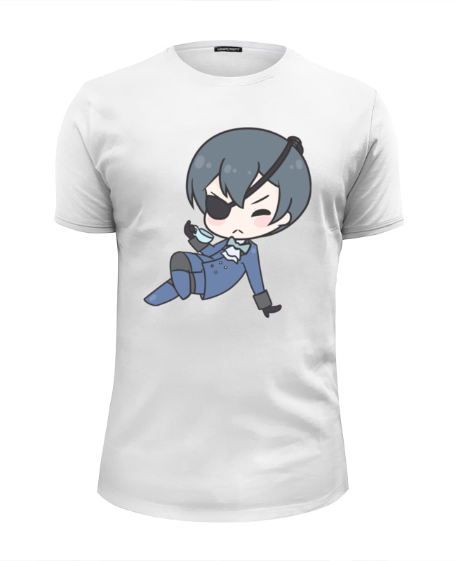 Футболка Wearcraft Premium Slim Fit Printio Black butler майка классическая printio black butler