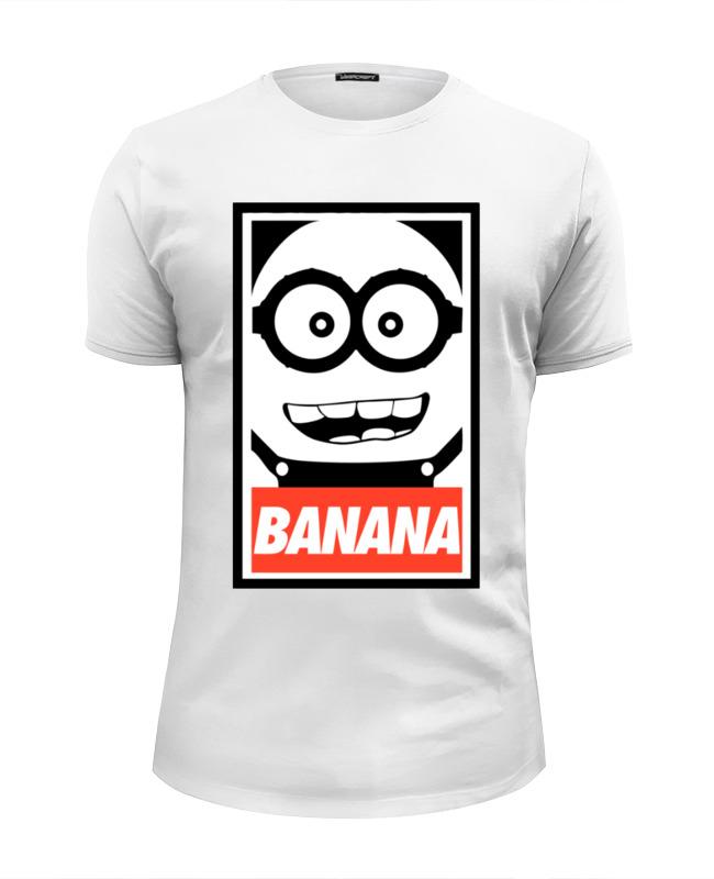 Футболка Wearcraft Premium Slim Fit Printio Миньон (banana) футболка wearcraft premium slim fit printio banana миньоны