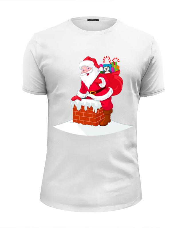 лучшая цена Футболка Wearcraft Premium Slim Fit Printio Дед мороз с подарками
