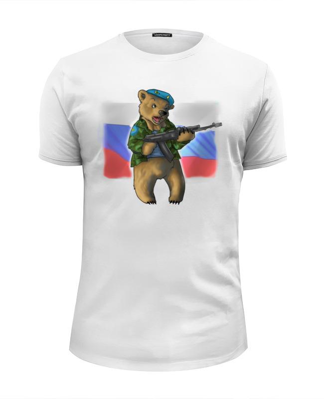 Футболка Wearcraft Premium Slim Fit Printio Russian bear футболка wearcraft premium slim fit printio bear arms
