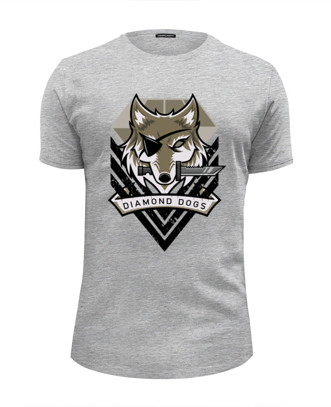 все цены на Футболка Wearcraft Premium Slim Fit Printio Diamond dogs (metal gear solid)