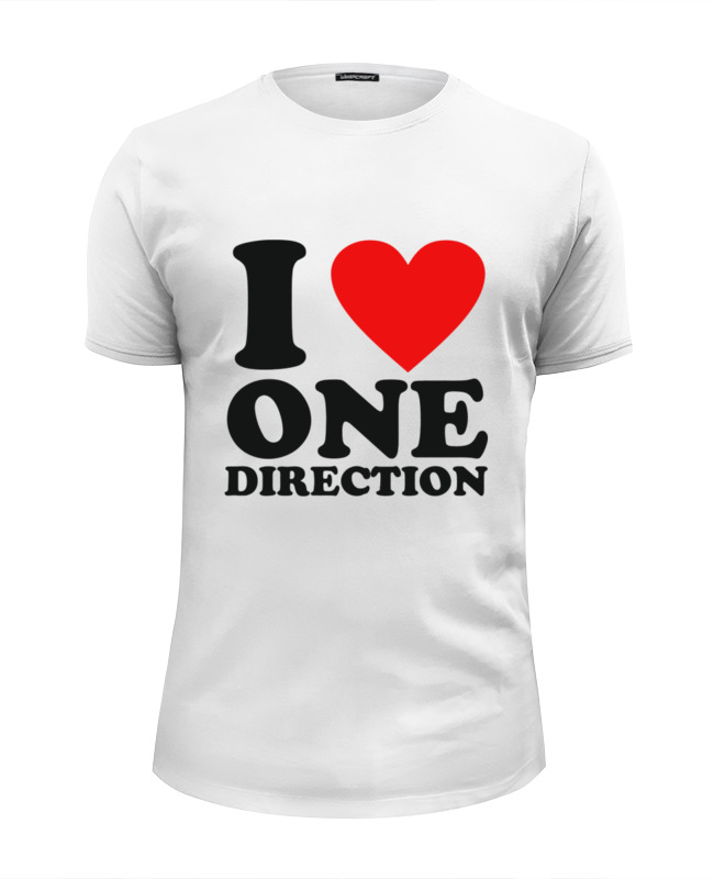 Футболка Wearcraft Premium Slim Fit Printio One direction one direction where we are 100