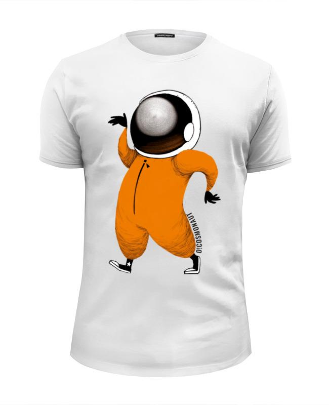 Футболка Wearcraft Premium Slim Fit Printio Космонавт танцует футболка wearcraft premium slim fit printio космонавт и звёздочка хотят отправиться в космос