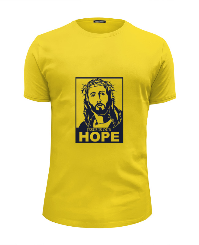 Футболка Wearcraft Premium Slim Fit Printio Иисус - наша надежда футболка wearcraft premium printio иисус наша надежда