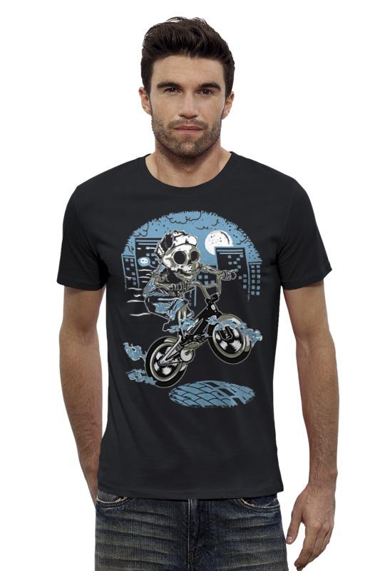 Футболка Wearcraft Premium Slim Fit Printio Скелет на велике футболка wearcraft premium slim fit printio скелет мамонта