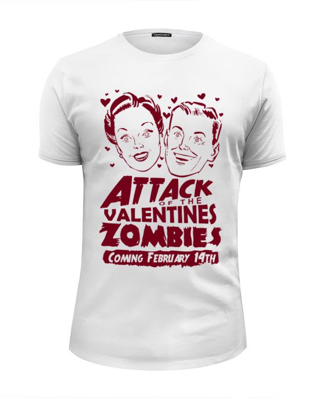 купить Футболка Wearcraft Premium Slim Fit Printio Attack of the valentine's zombies по цене 1250 рублей