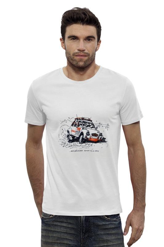 Футболка Wearcraft Premium Slim Fit Printio Автомобиль citroen 2cv rally s s ралли