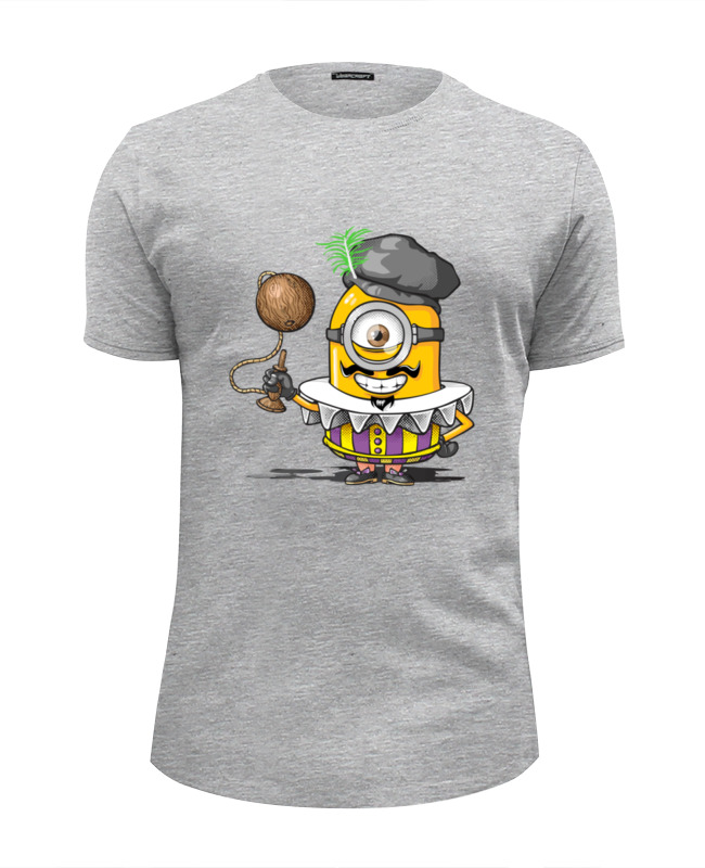 Футболка Wearcraft Premium Slim Fit Printio Миньон француз футболка wearcraft premium slim fit printio миньон кунг фьюри