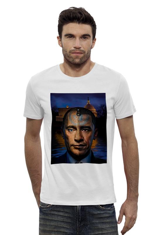 Футболка Wearcraft Premium Slim Fit Printio Путин vs обама футболка wearcraft premium printio barack obama