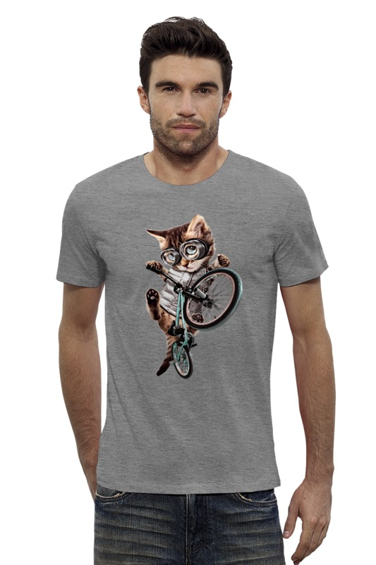 Футболка Wearcraft Premium Slim Fit Printio Велосипедист футболка wearcraft premium slim fit printio oasis