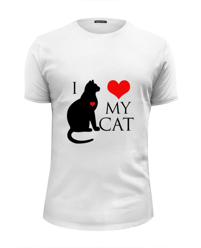 Футболка Wearcraft Premium Slim Fit Printio Я люблю своего кота футболка wearcraft premium slim fit printio люблю науку
