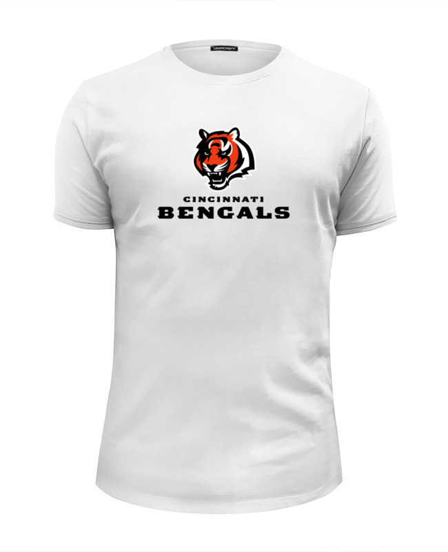 где купить Футболка Wearcraft Premium Slim Fit Printio Cincinnati bengals дешево