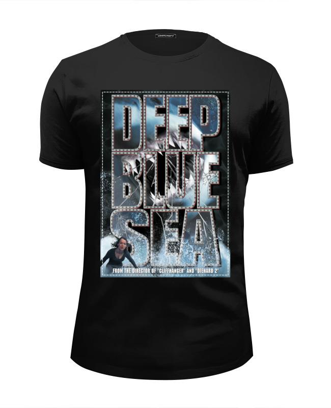 Футболка Wearcraft Premium Slim Fit Printio Глубокое синее море футболка wearcraft premium printio глубокое синее море