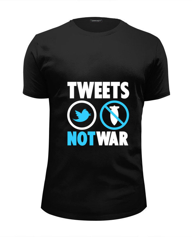 Футболка Wearcraft Premium Slim Fit Printio Tweets not war футболка wearcraft premium slim fit printio tides of war
