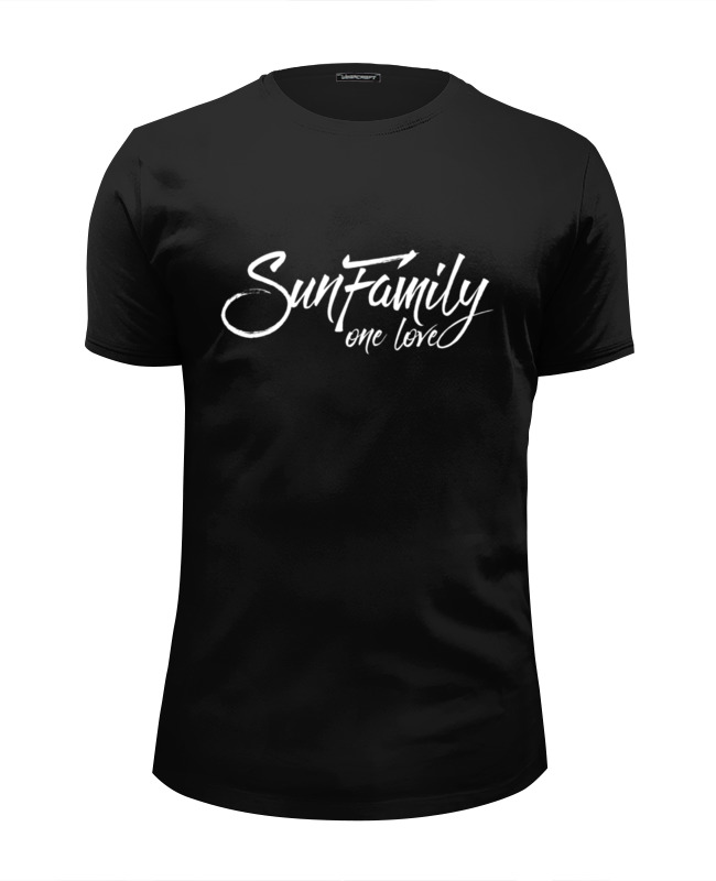 купить Футболка Wearcraft Premium Slim Fit Printio Футболка sunfamily one love - black по цене 1700 рублей