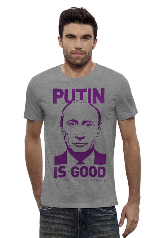Футболка Wearcraft Premium Slim Fit Printio Путин printio футболка wearcraft premium slim fit