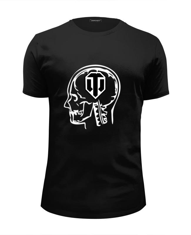Футболка Wearcraft Premium Slim Fit Printio Skull wot футболка wearcraft premium slim fit printio skull man