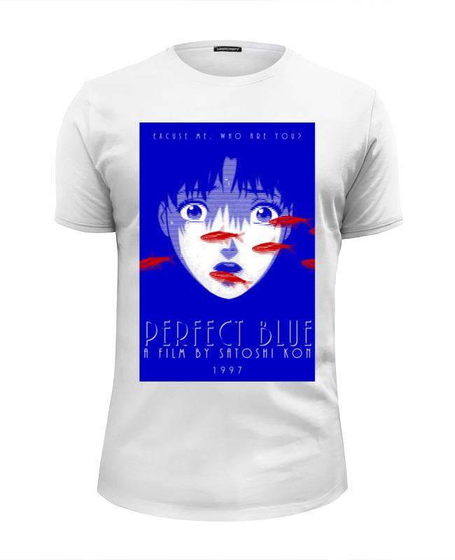 Футболка Wearcraft Premium Slim Fit Printio Истинная грусть / идеальная грусть / perfect blue