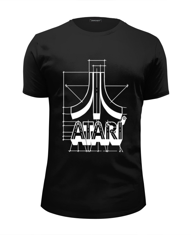 Футболка Wearcraft Premium Slim Fit Printio Логотип атари - atari logo