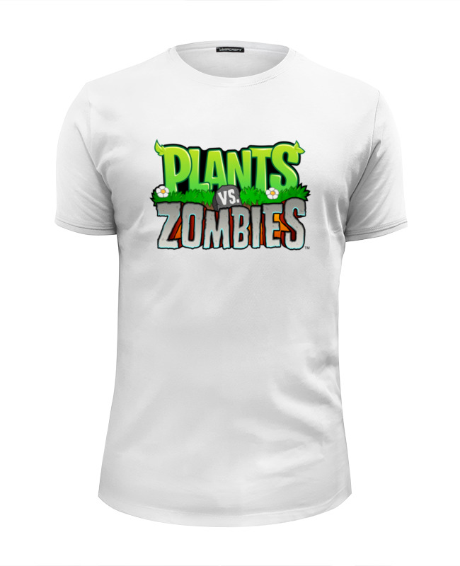 Футболка Wearcraft Premium Slim Fit Printio Plants vs. zombies цена