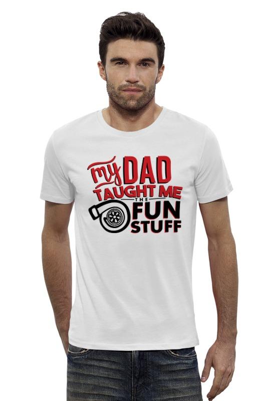 Футболка Wearcraft Premium Slim Fit Printio My dad (fun stuff) детский монитор dad wifi babymonitor