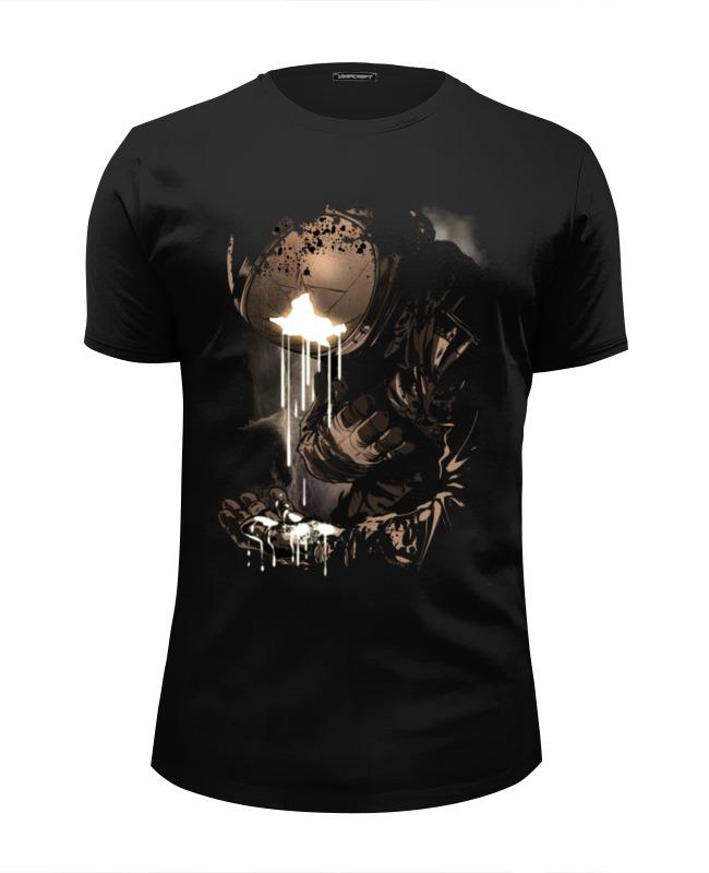 Футболка Wearcraft Premium Slim Fit Printio Космонавт футболка wearcraft premium slim fit printio русский космонавт