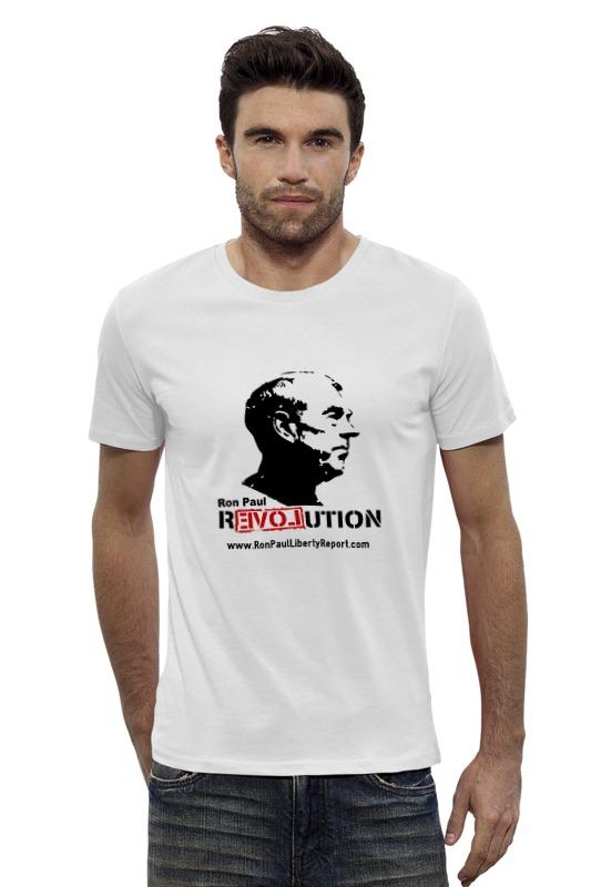 Футболка Wearcraft Premium Slim Fit Printio Ron paul revolution paul lanjalley paul corriez histoire de la revolution du 18 mars
