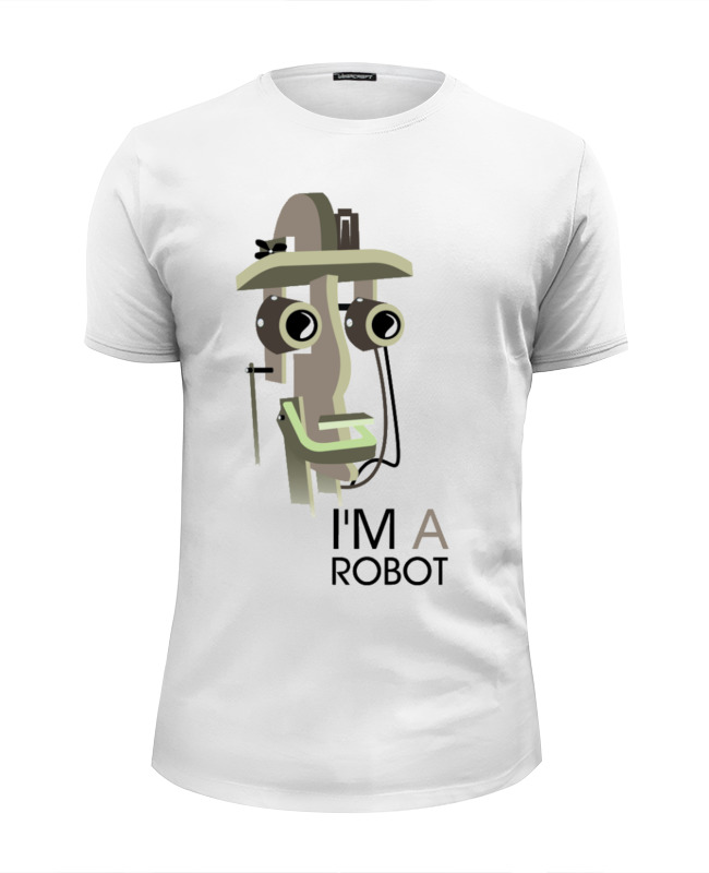 Футболка Wearcraft Premium Slim Fit Printio I`m a robot tinyville town i m a firefighter