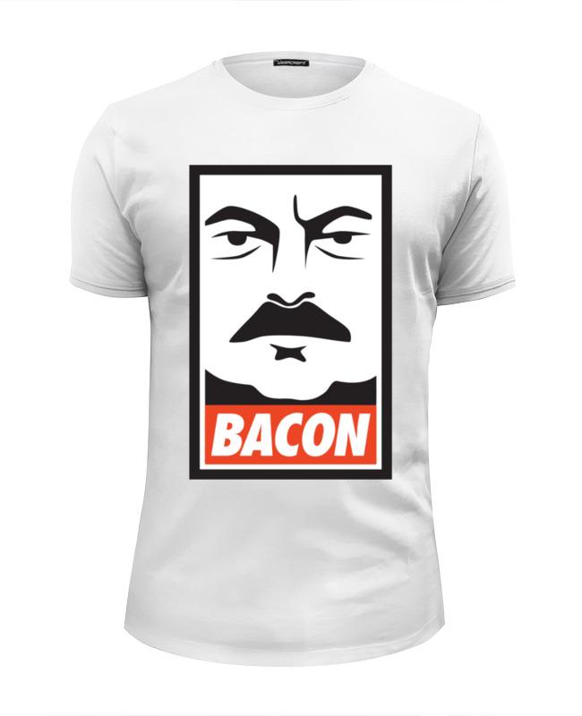 Футболка Wearcraft Premium Slim Fit Printio Bacon (obey) толстовка wearcraft premium унисекс printio bacon obey