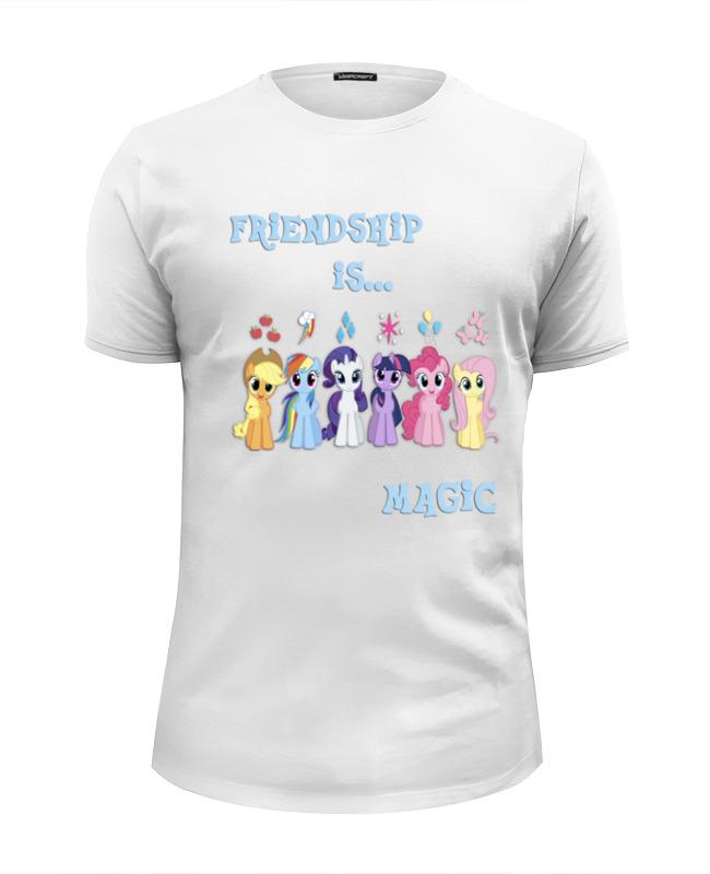 Футболка Wearcraft Premium Slim Fit Printio Friendship is magic