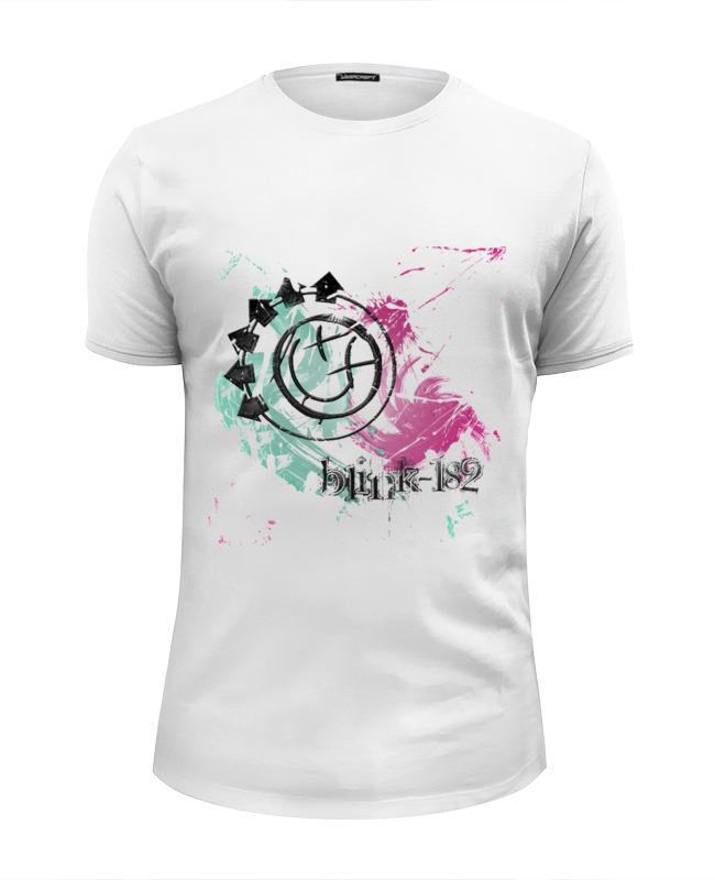 Printio Blink-182 white рубашка мужская oodji lab цвет синий серый 3l210044m 46877n 7523e размер 41 182 50 182