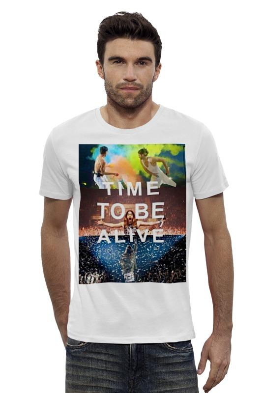 Футболка Wearcraft Premium Slim Fit Printio Time to be alive футболка wearcraft premium slim fit printio city of angels 30 seconds to mars